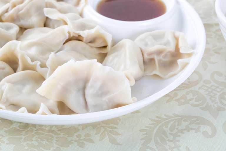 Vegetarian Dumplings with Mushrooms Recipe Image