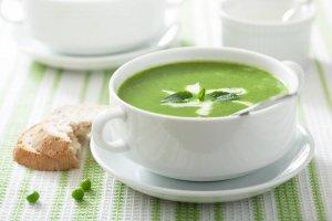 Sopa Fría de Guisantes y Menta de Primavera Recipe Image