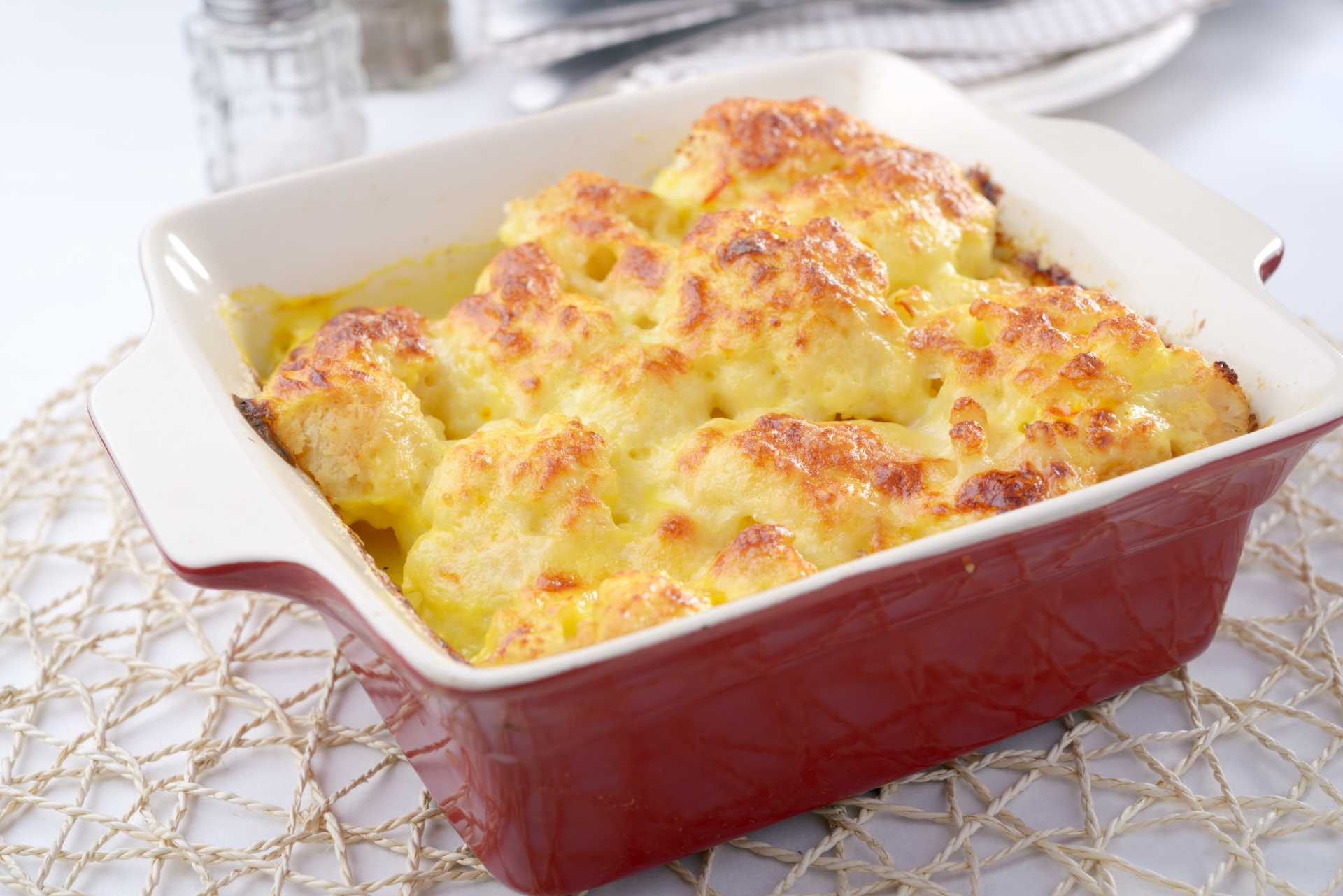 High Protein High Calorie Cauliflower Gratin