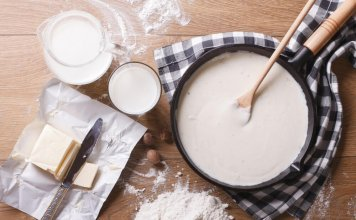 all-purpose flour, butter, parmesan- bechamel sauce- cook for your life- anti-cancer recipes