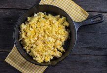 scramble, eggs, nutmeg- Scrambled Eggs- anti-cancer recipes- cook for your life