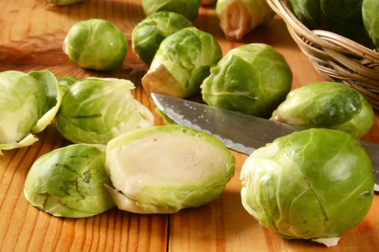 Brussels Sprout Pita Pizza Recipe Image