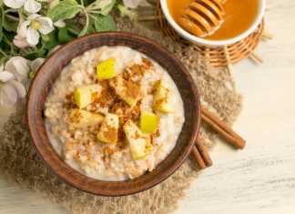 Tahini & Apple Oatmeal - Cook For Your Life- anti-cancer recipes