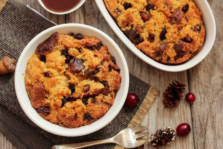 Sweet Potato Bread Pudding Recipe Image