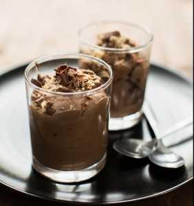 Mocha Chocolate Tofu Mousse Recipe Image