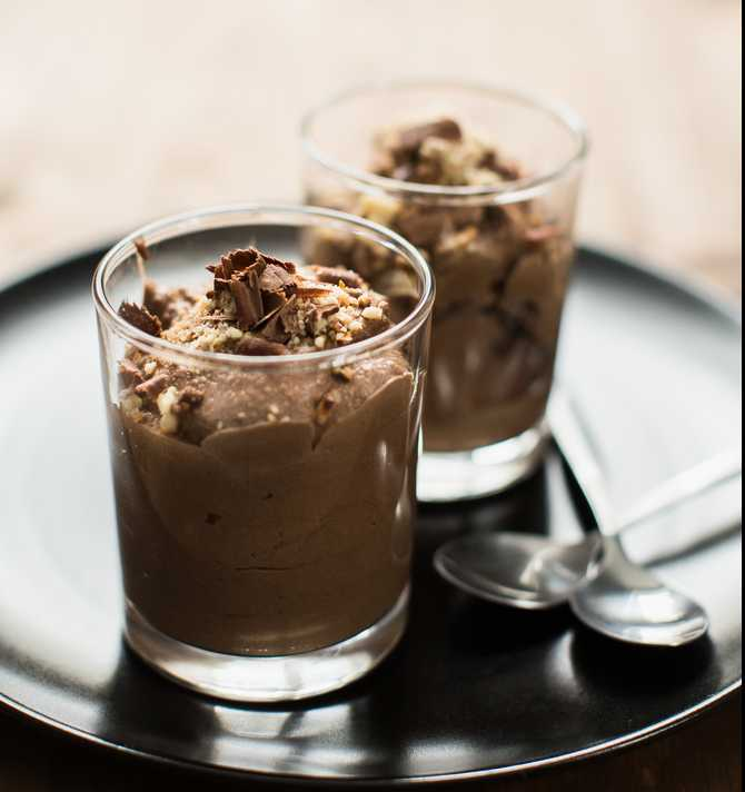 Mocha Chocolate Tofu Mousse Recipe Image
