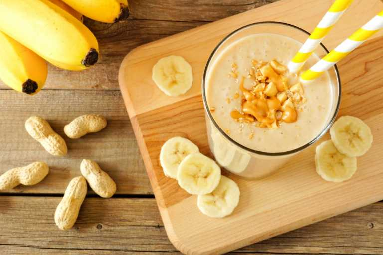 Banana & Nut Butter Smoothie Recipe Image