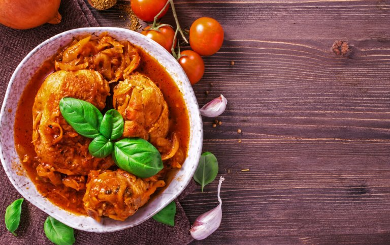 Chicken Stew with Rice & Tomatoes Recipe Image