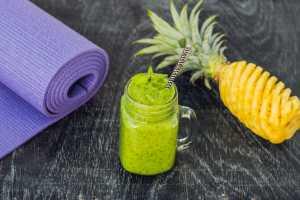 Pineapple Basil Smoothie Recipe Image
