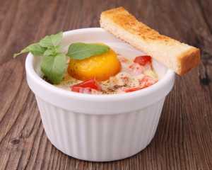 Chickpea, Tomato & Egg Bake Recipe Image