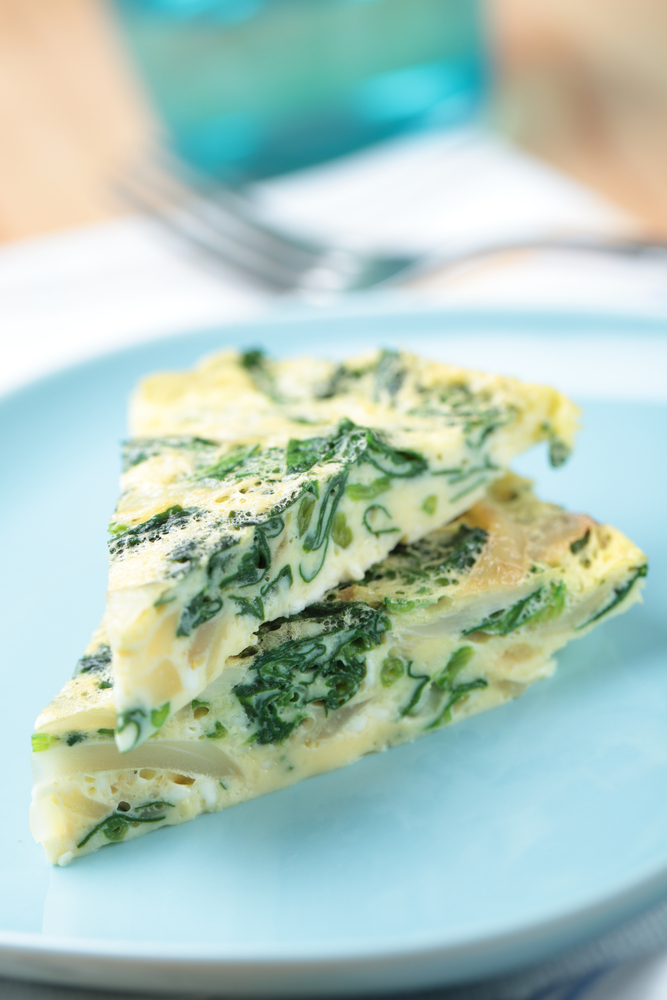 Caramelized Onion & Spinach Frittata Recipe Image