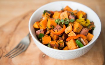 sweet potato hash- cook for your life- anti-cancer recipes
