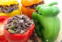 Peppers Stuffed with Sausage & Egg-White