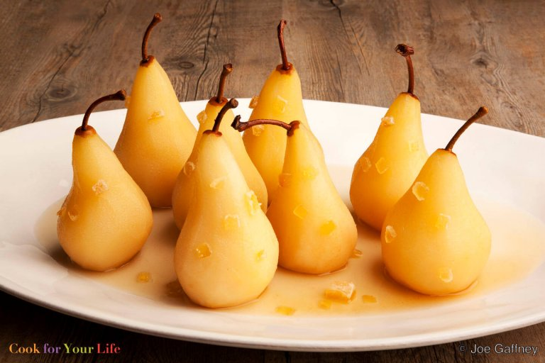 Ginger Poached Pears Recipe Image