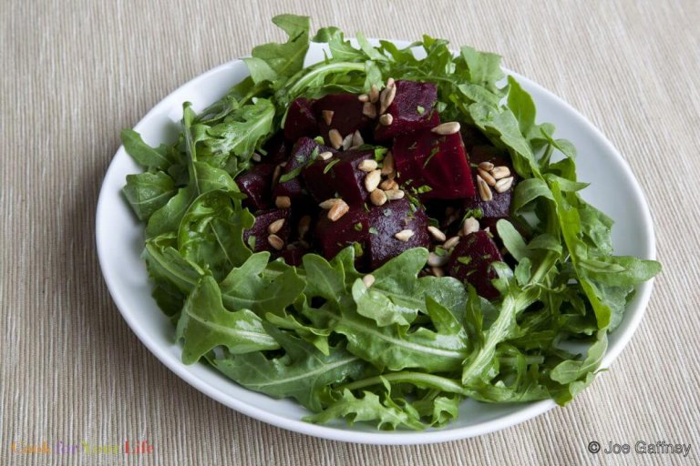 Roasted Beet and Arugula Salad Recipe Image