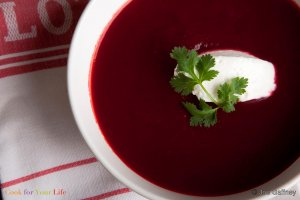 Spiced Beet & Tomato Soup Recipe Image