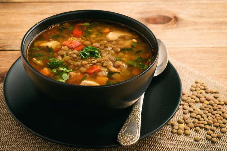 Moroccan Spiced Lentil Soup Recipe Image