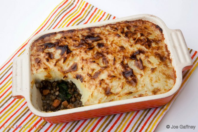 Pastelón de Carne de Lentejas Recipe Image