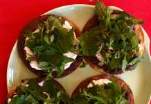 Tostadas with Dark Leafy Greens