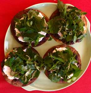 Tostadas with Dark Leafy Greens Recipe Image