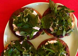 Tostadas with Dark Leafy Greens