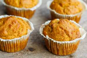 Pumpkin, Honey and Tahini Muffins Recipe Image