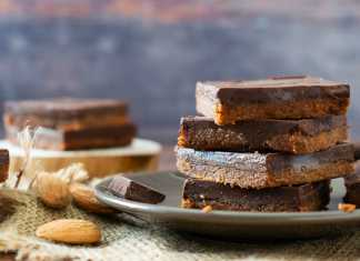 Chocolatey Date Almond Bars