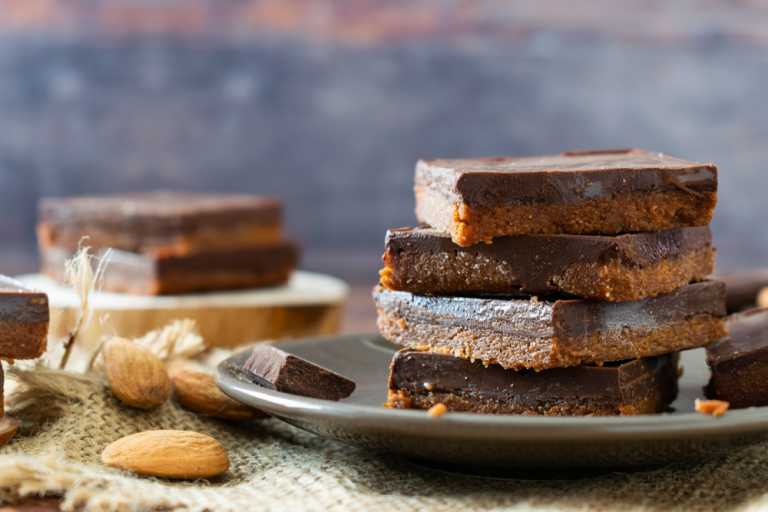 Vegan Chocolate, Date & Almond Bars Recipe Image