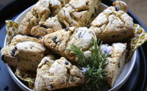 Rosemary Scented Olive Scones Recipe Image