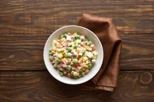Russian Salad With Creamy Mustard Vinaigrette Recipe Image