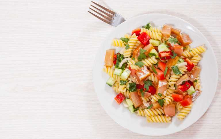 Salmon Pasta Salad Recipe Image